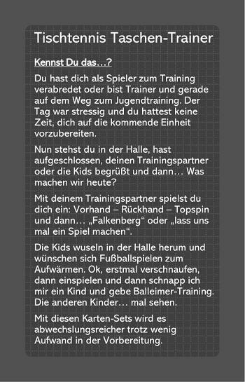 Tischtennis Taschen Trainer Idee